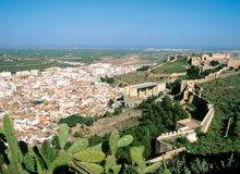 Perspectiva del castillo de Sagunto