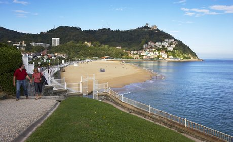 View of San Sebastián beach.