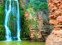 Cascada en el río Huerva, Parque Natural de Muel