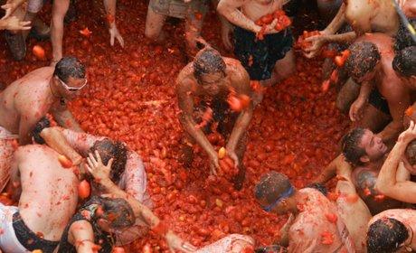 Batalla de la Tomatina. / Foto cedida por: Ayuntamiento de Buñol