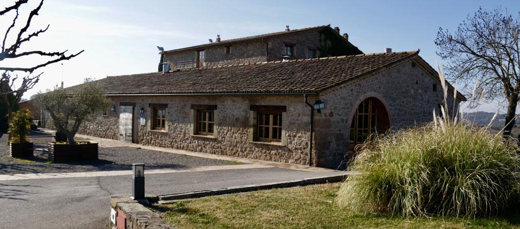 Vista exterior del restaurante Els Casals