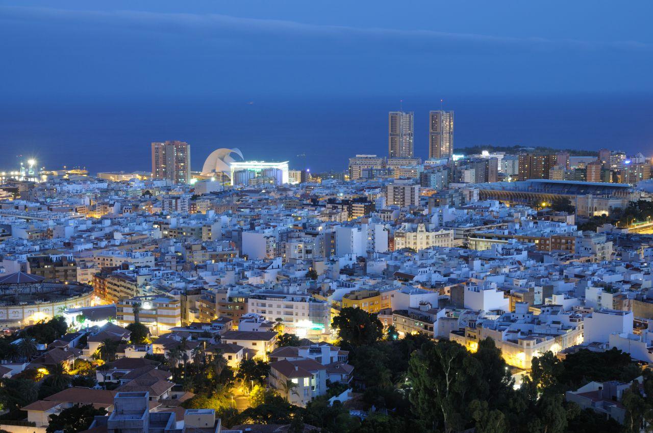 Vista panorámica de Santa Cruz de Tenerife. Foto: Shutterstock