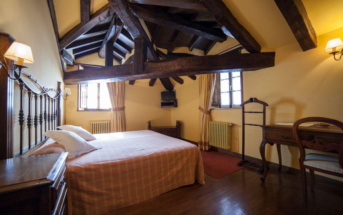Una habitación de la Posada Palacio Beola. Foto: Gari