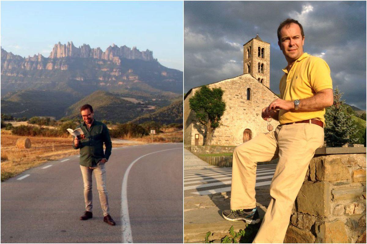 Javier Sierra posando en lugares pintorescos de nuestra geografía. Foto: Facebook