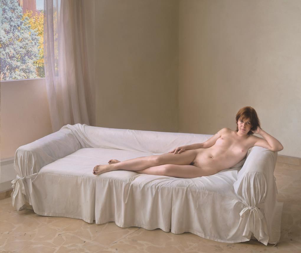 Obra de Eduardo Naranjo en la exposición La apariencia de lo real, del Museo Carmen Thyssen.