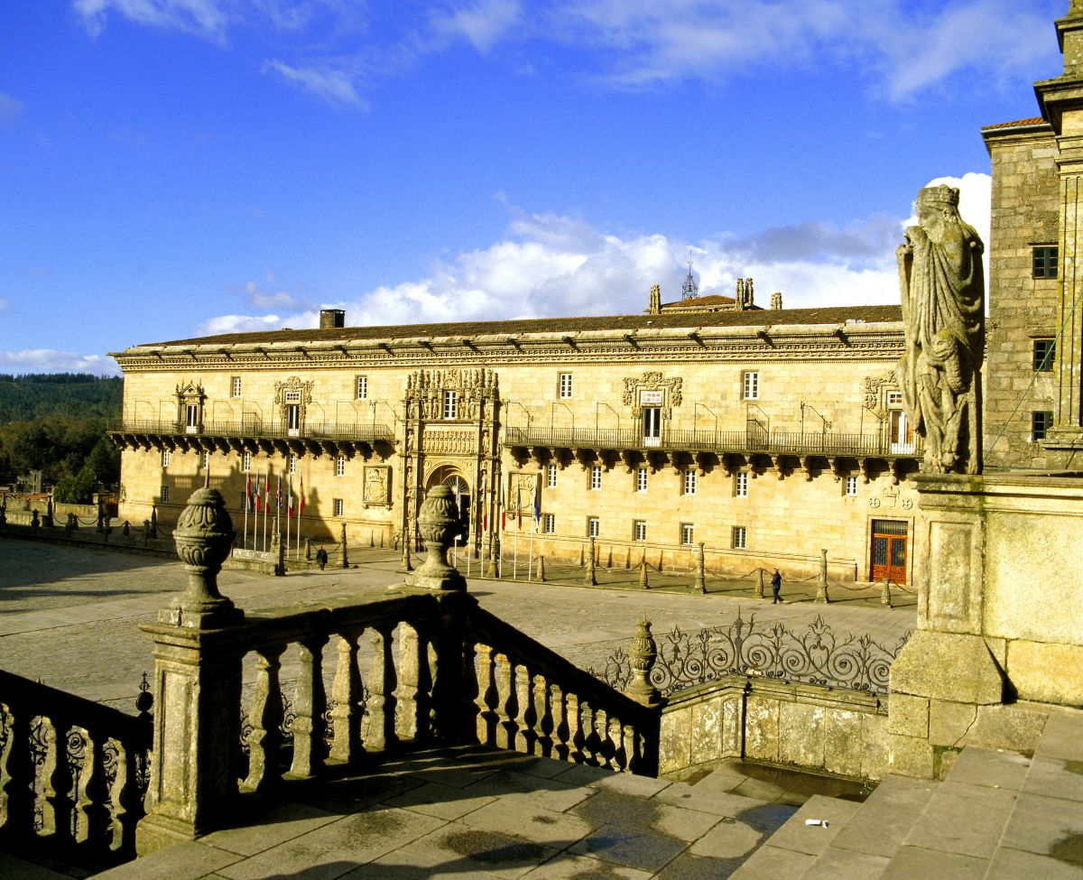 Vista del Hostal de los Reyes Católicos. Foto: Paradores