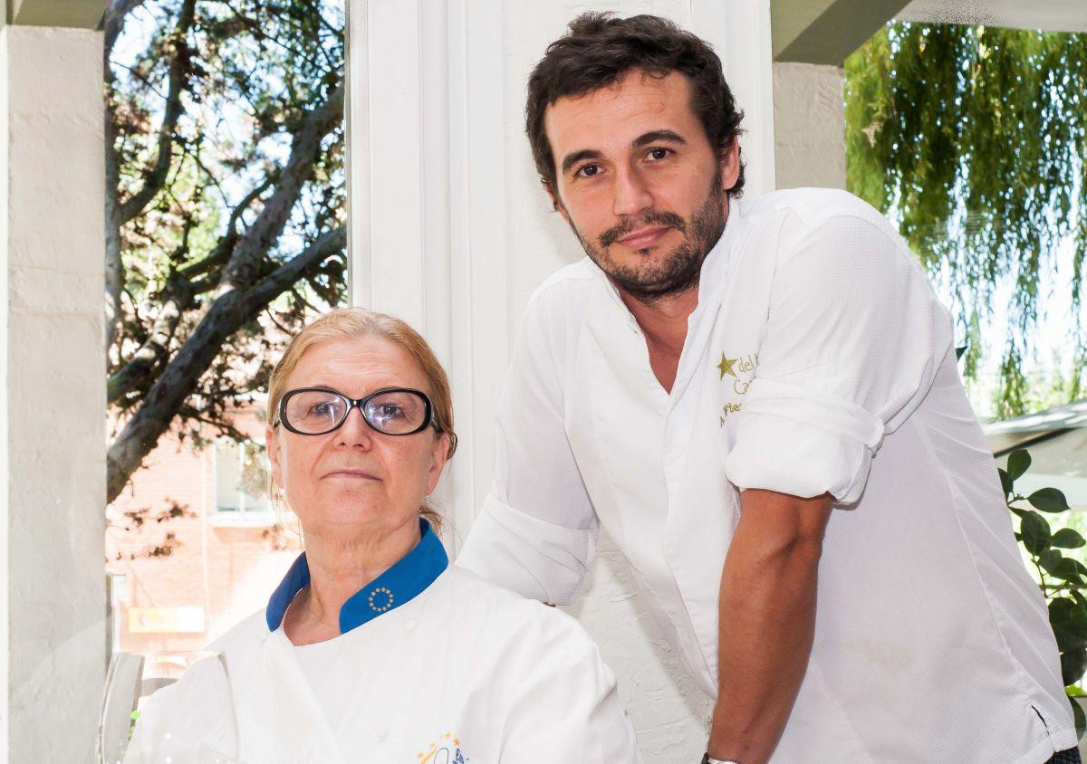 Pilar Pedrosa y Alfonso Fierro, su hijo. Foto: Estrella del Bajo Carrión.
