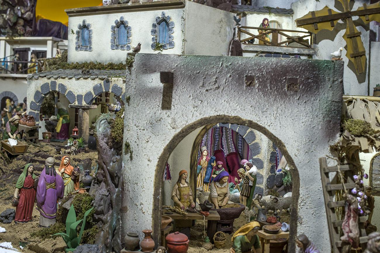 Belén Jerez de los Caballeros (Badajoz). Vida y oficios en el Belén. Foto: Alfredo Cáliz