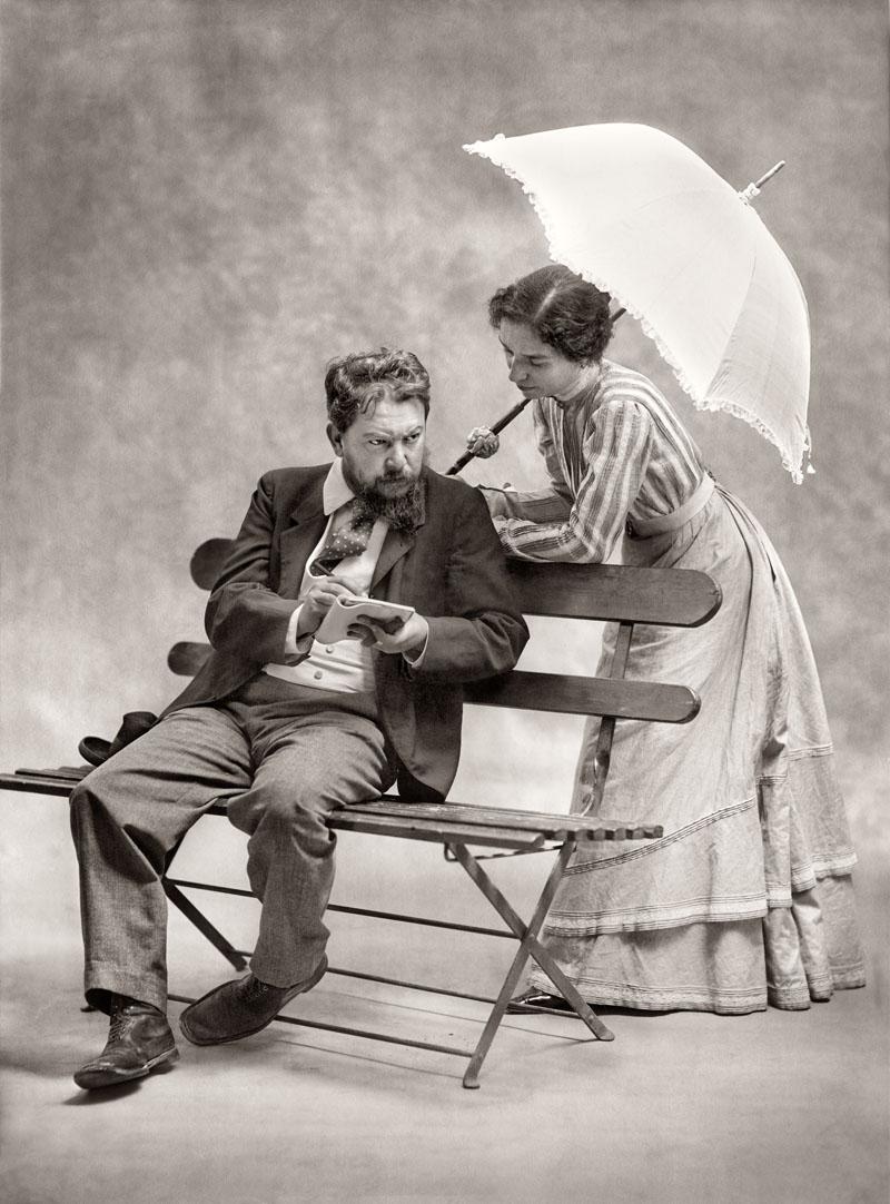 Sorolla junto a su mujer Clotilde García
