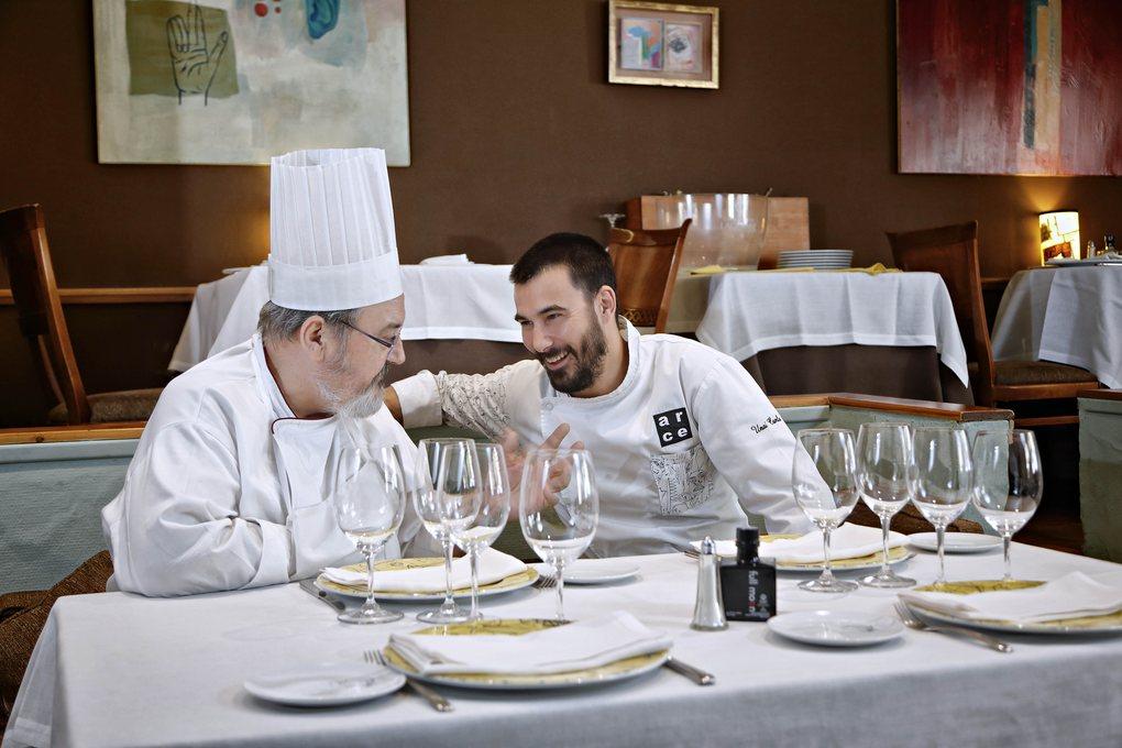 Iñaki y Unai Camba, en Arce, Madrid.