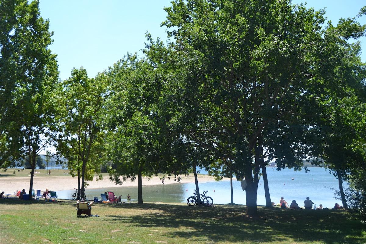 Playa Landa, en el parque provincial Garaio. Foto: Júlia Manresa