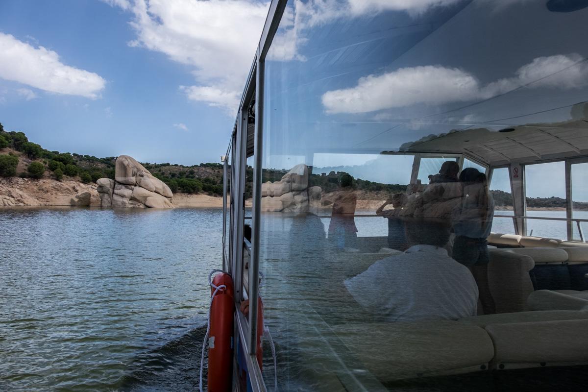Crucero en el embalse de Alcántara y el río Alagón. Foto: Hugo Palotto