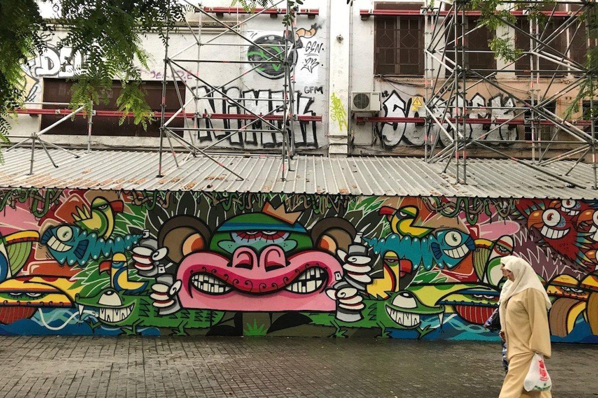 La Plaza de Raquel Meller. Graffiti Barcelona.
