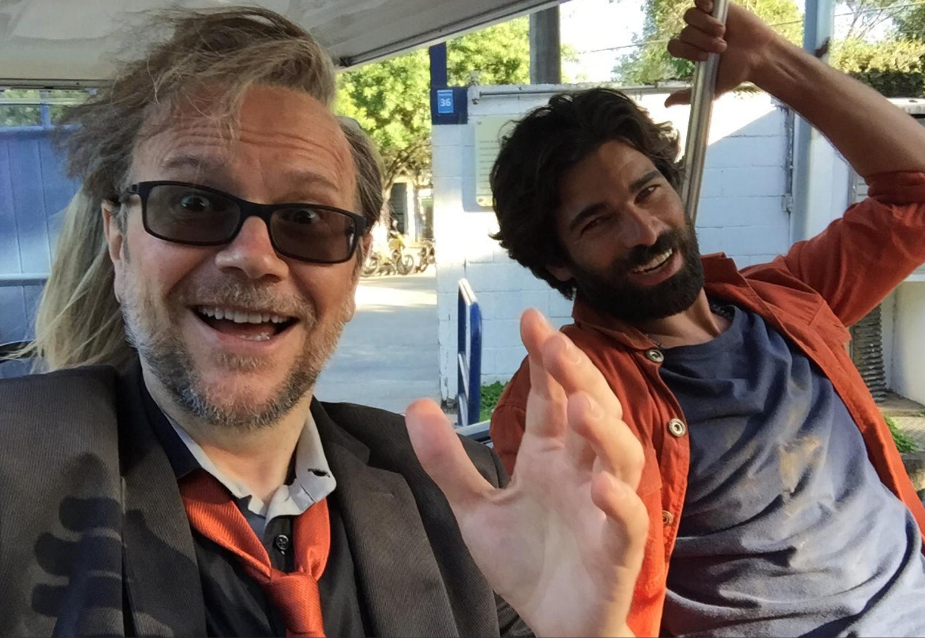 Durante el rodaje de 'Sin rodeos'. Foto: Instagram