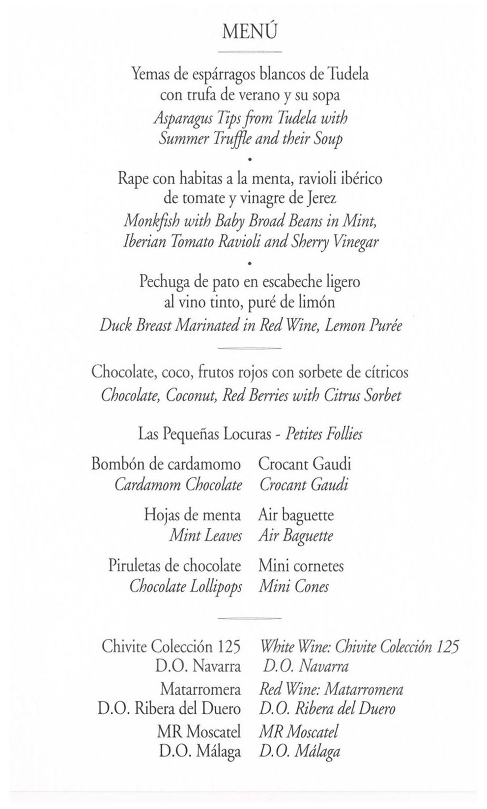 Repasa qué cenaron Don Felipe, Doña Letizia y sus cientos de invitados la víspera de la boda real.