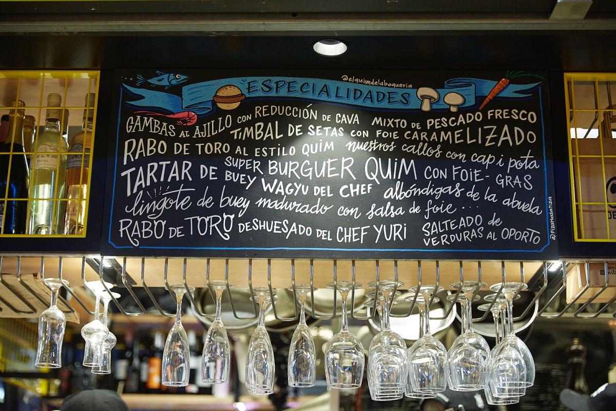 La apetitosa variedad de la pizarra. Foto: Xavier Torres-Bacchetta