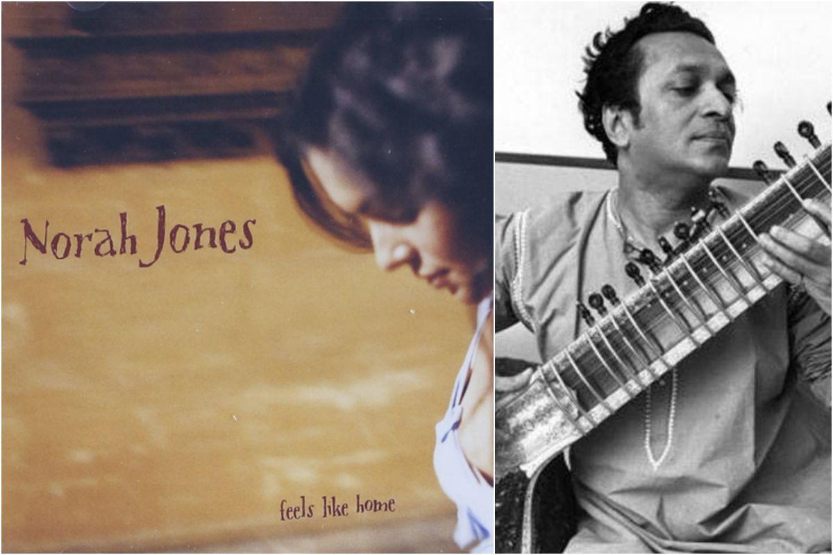 Norah Jones y su padre, Ravi Shankar. Fotos: Facebook