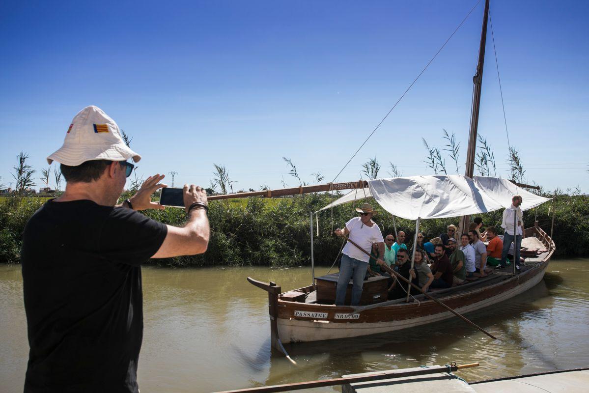 Paseo en barca por L'Albufera. Foto: Eva Máñez