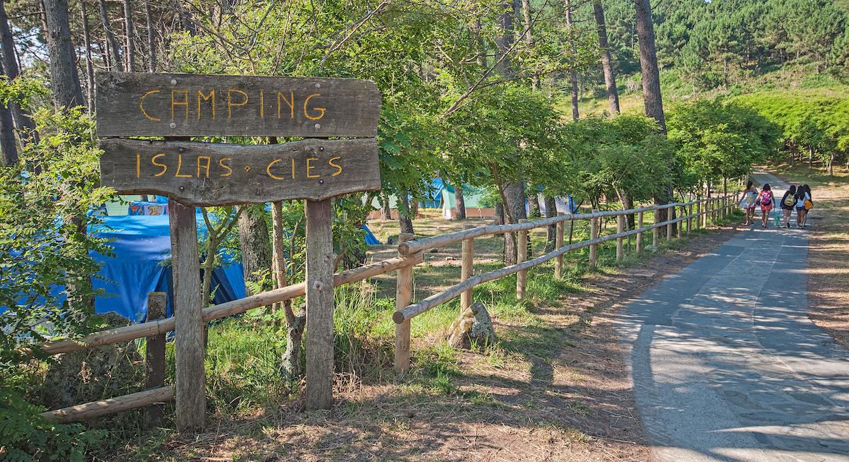 Camping de las Islas Cíes, entrada. Foto: Shutterstok