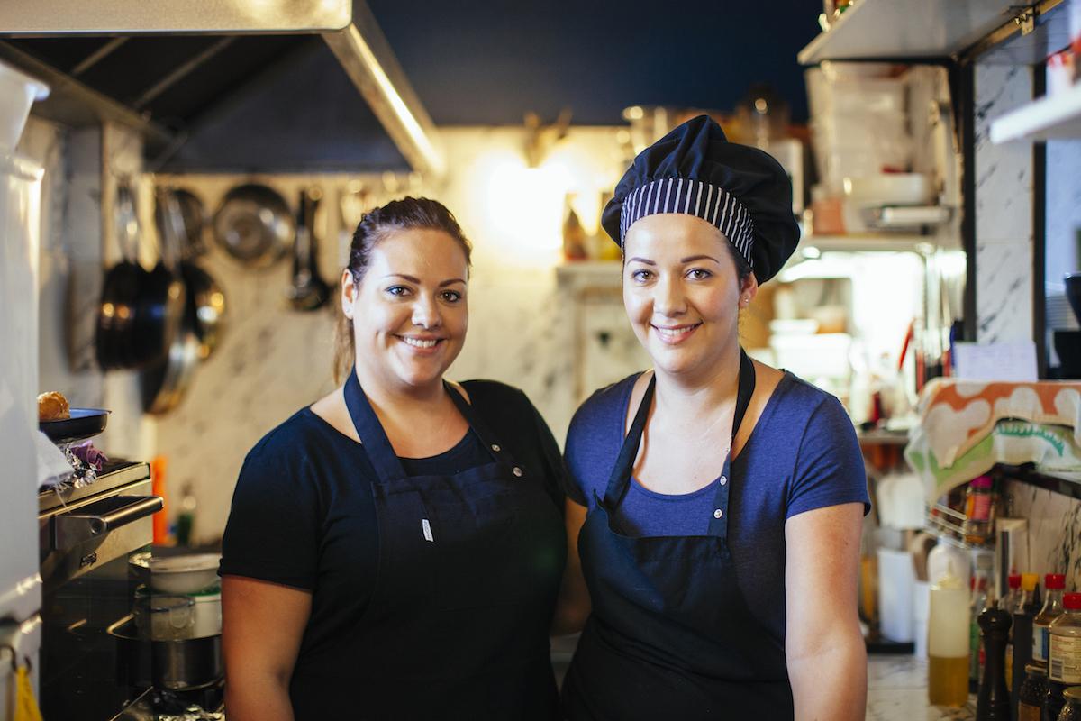Dalia y Natalia del restaurante 'Historias para no dormir'. Foto: Rocío Eslava