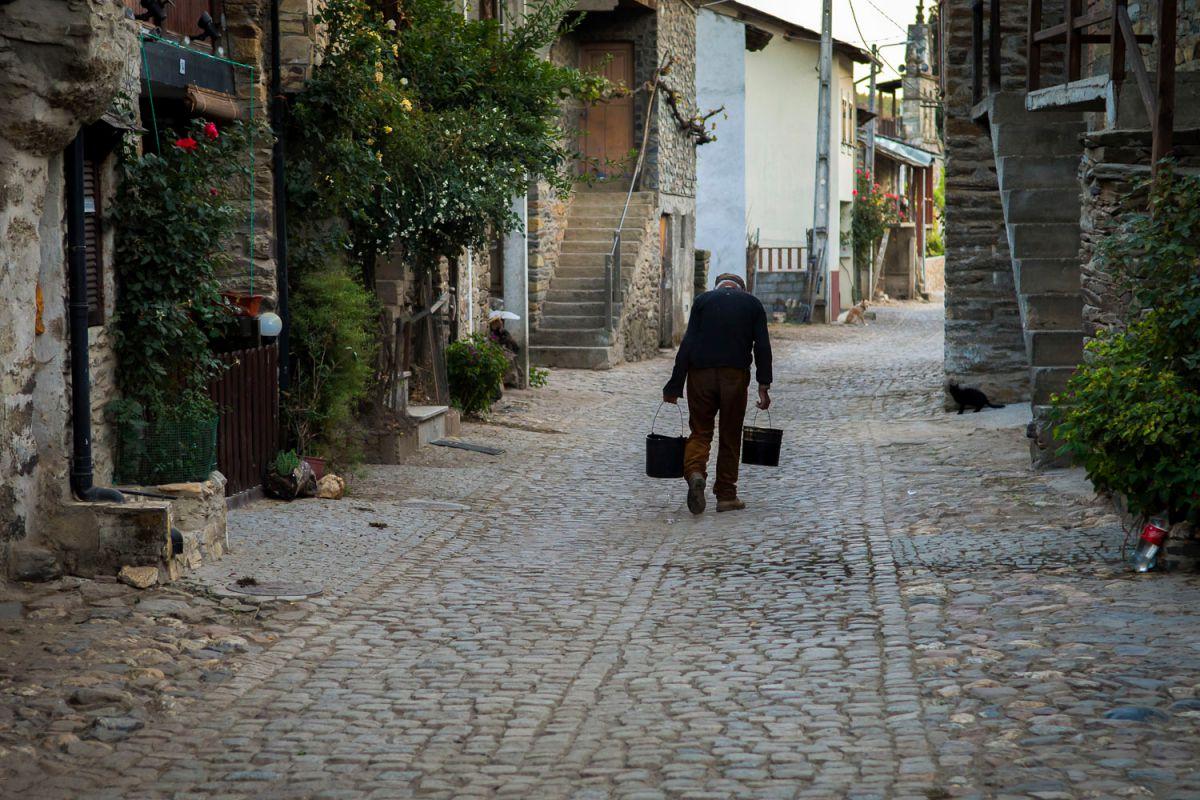 Un vecino de Rio de Onor. Foto: Manuel Ruiz Toribio