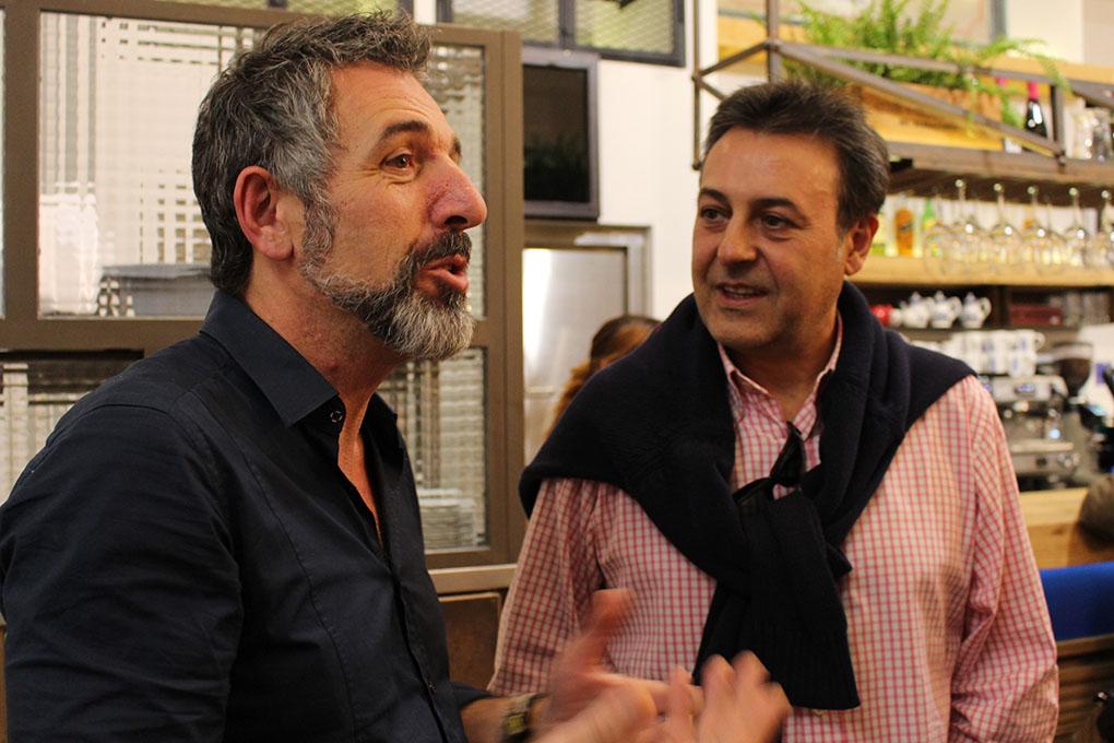 José Ribagorda junto a Pepe Solla ('Atlántico'). Foto cedida: delascosasdelcomer.com