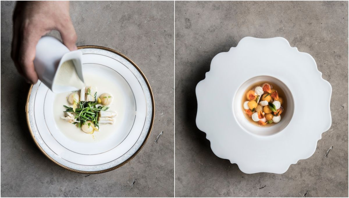 Platos de Ricard Camarena restaurant. Fotos: cedidas