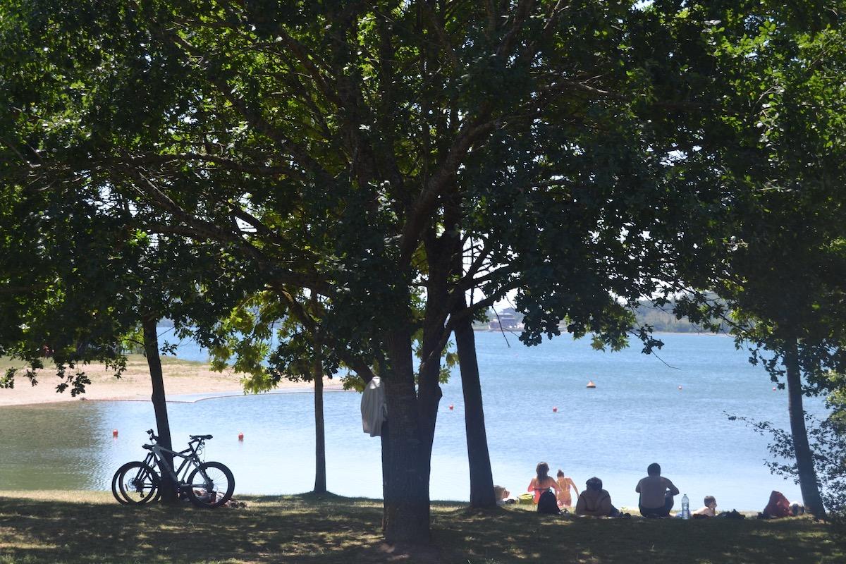 Landa, el área de playa del parque provincial Garaio. Foto: Júlia Manresa