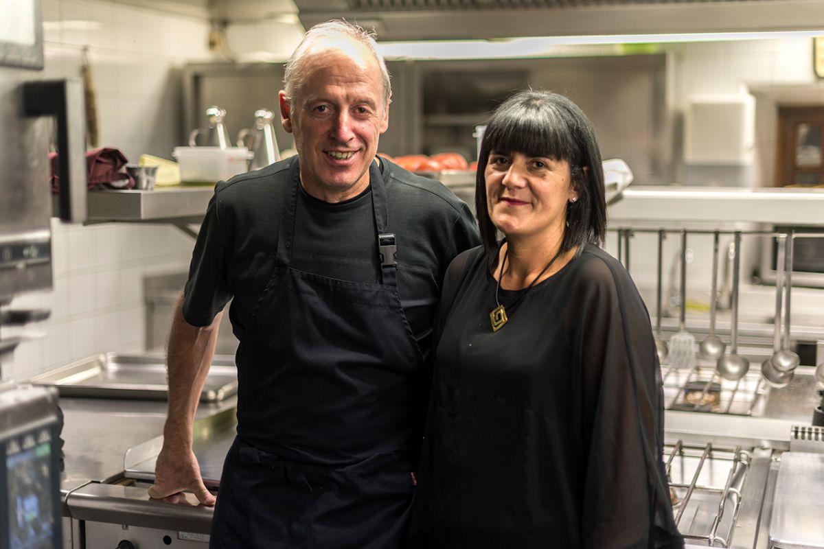 Bittor y Marta Patricia del restaurante Asador Etxebarri. Foto: Alfredo Cáliz