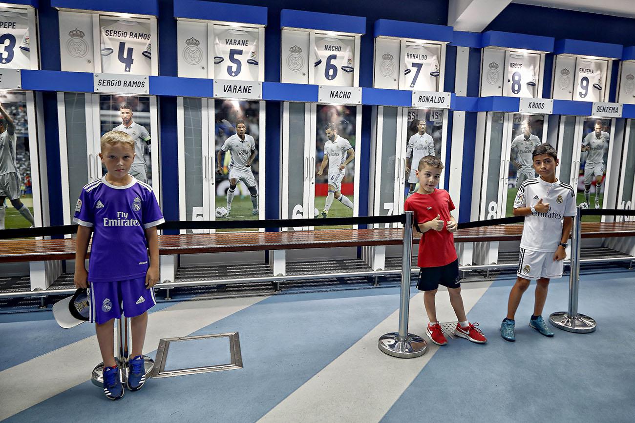 Tour Bernabéu (Real Madrid) - Vestuarios. Foto: Roberto Ranero.