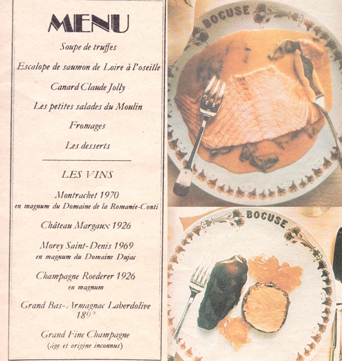 El menú y un par de platos publicado en ABC.