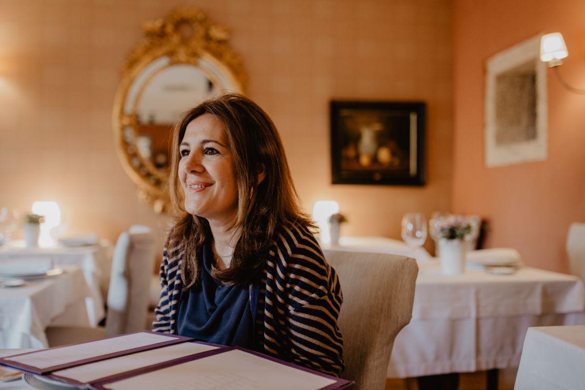 Luisa en el restaurante Filigrana, del hotel. Foto: Nuria Sambade