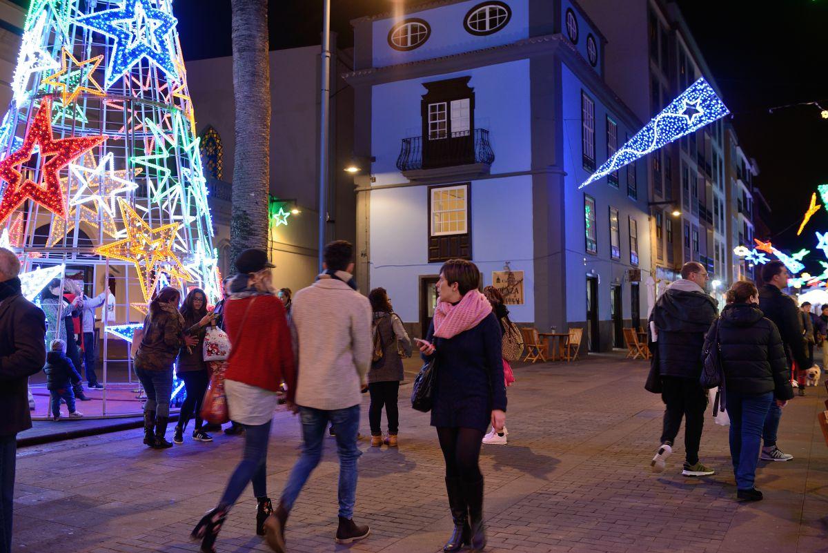Ambiente navideño en las calles de La Laguna. Foto: Rocío Eslava