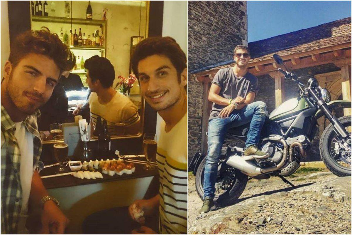 De tapas con su hermano y por la sierra de Madrid en moto. Fotos: Facebook