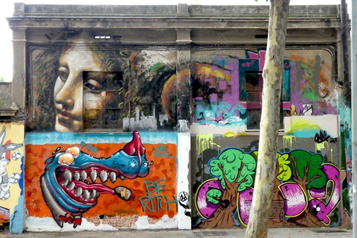 Mural en Poblenou.