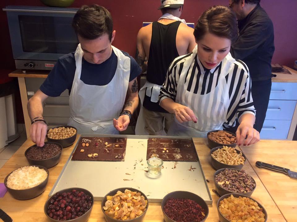 Soraya Arnelas en la chocolatería belga de Laurent Gerbaud. Foto cedida