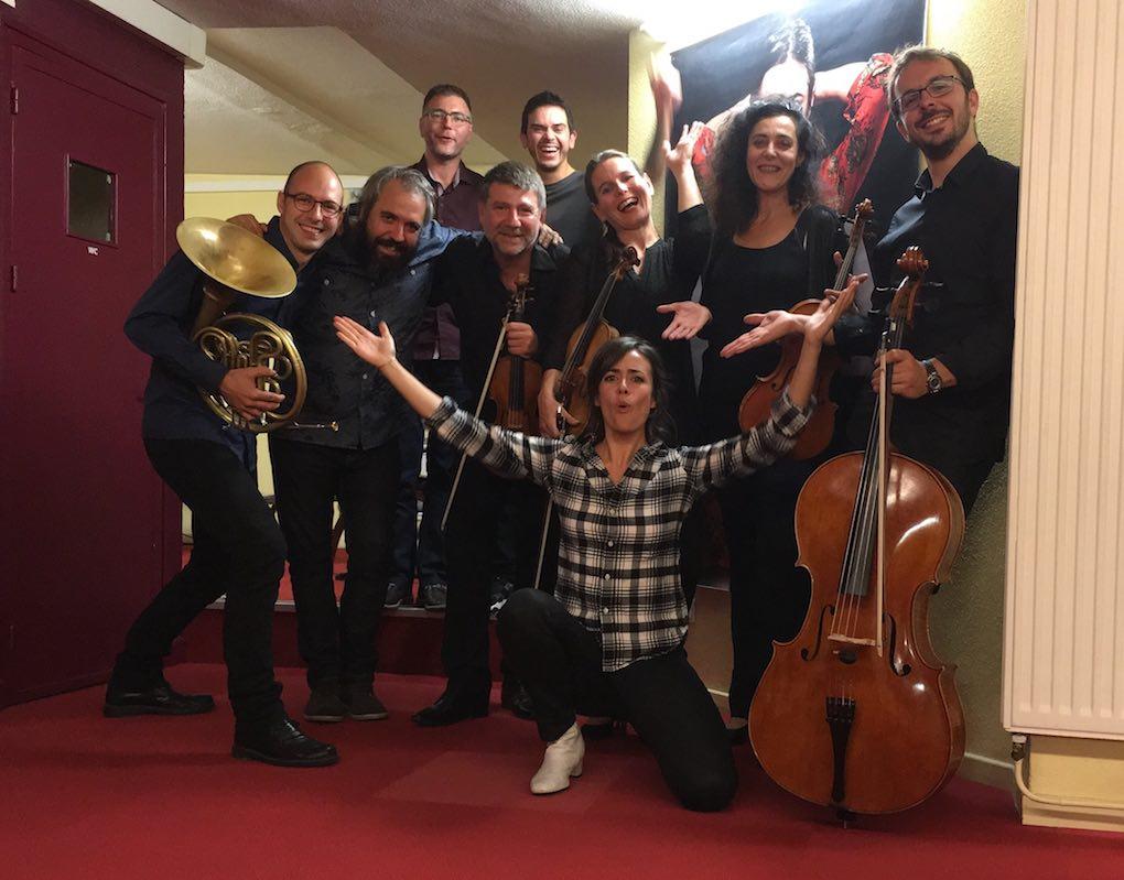 Postconcierto, con el Brossa Quartet de Corda. Foto: Facebook
