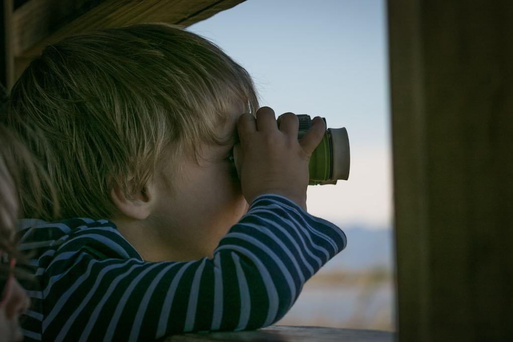 Observación de aves en el Garxal. Foto: Pekebikers.