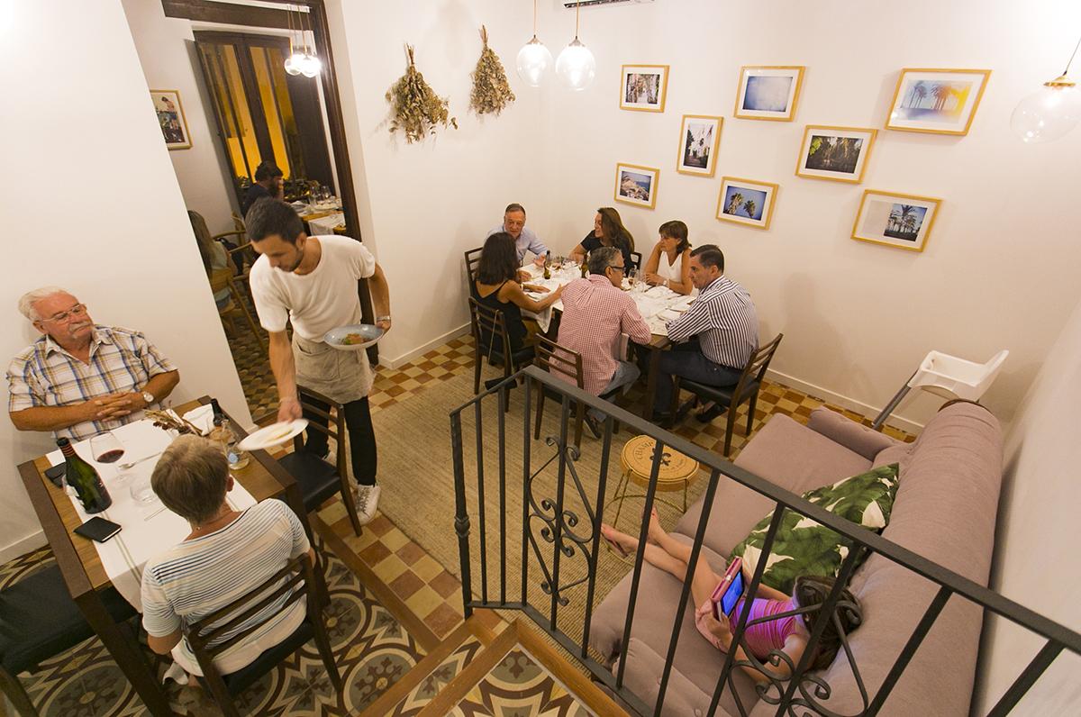 Interior del restaurante Volta & Volta. Foto: Xavi Gutiérrez