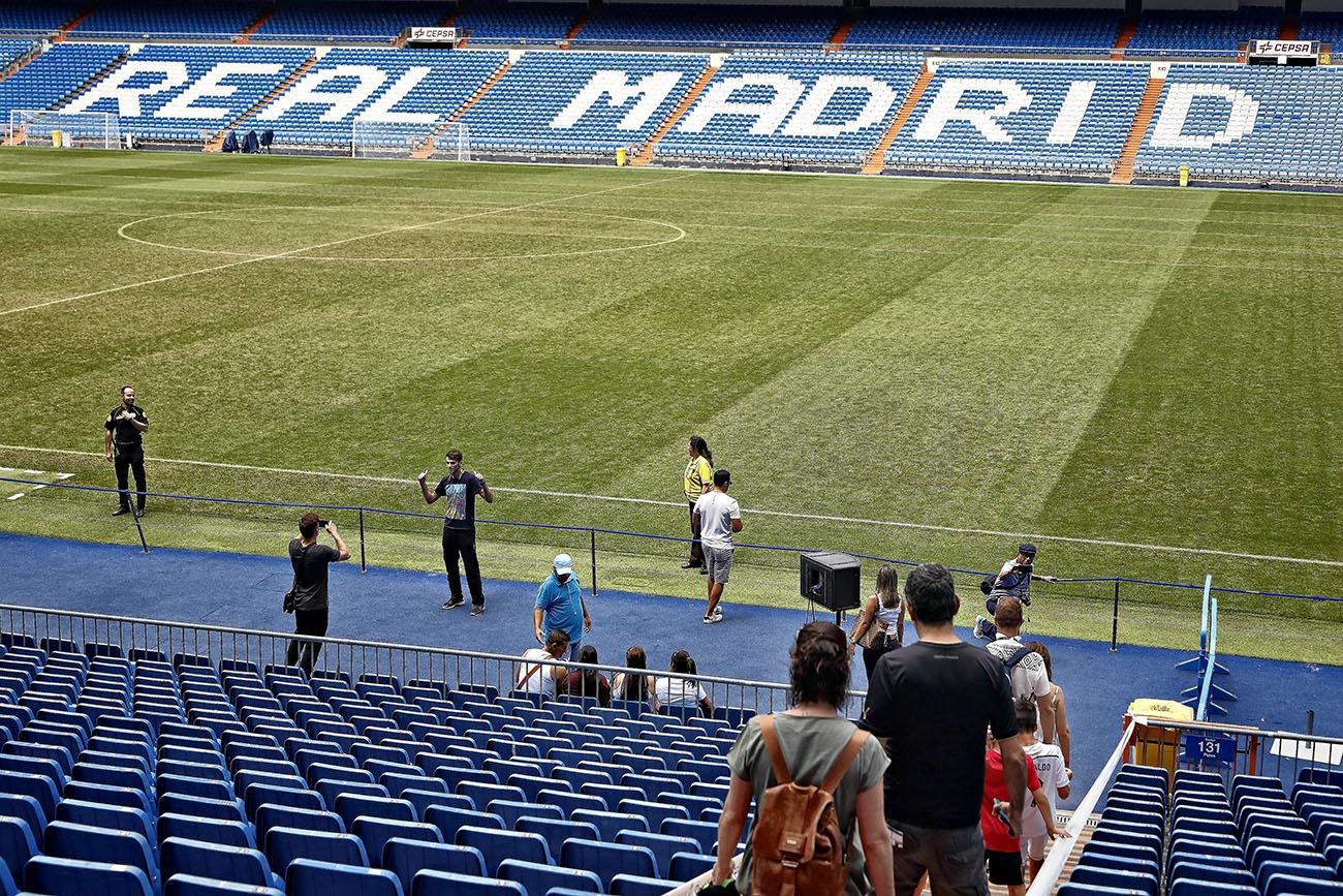 Tour Bernabéu (Real Madrid) - Terreno de juego. Foto: Roberto Ranero.
