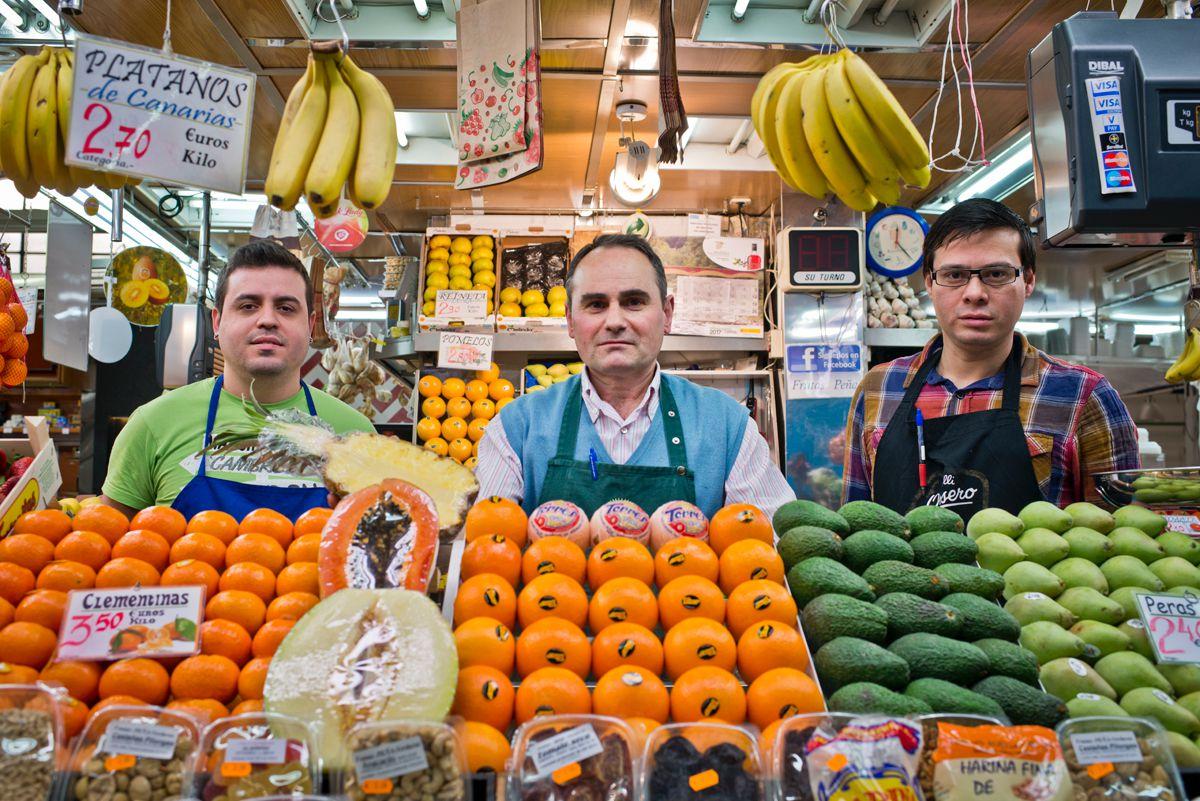 En el puesto de los Hermanos Peña. Foto: Sofía Moro
