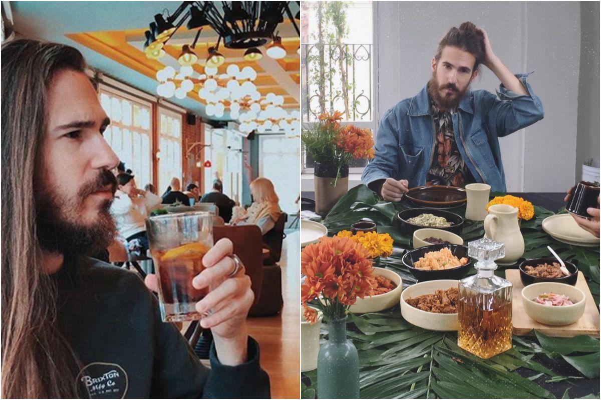 Carlos Sadness disfrutando de una comida. Fotos: Instagram