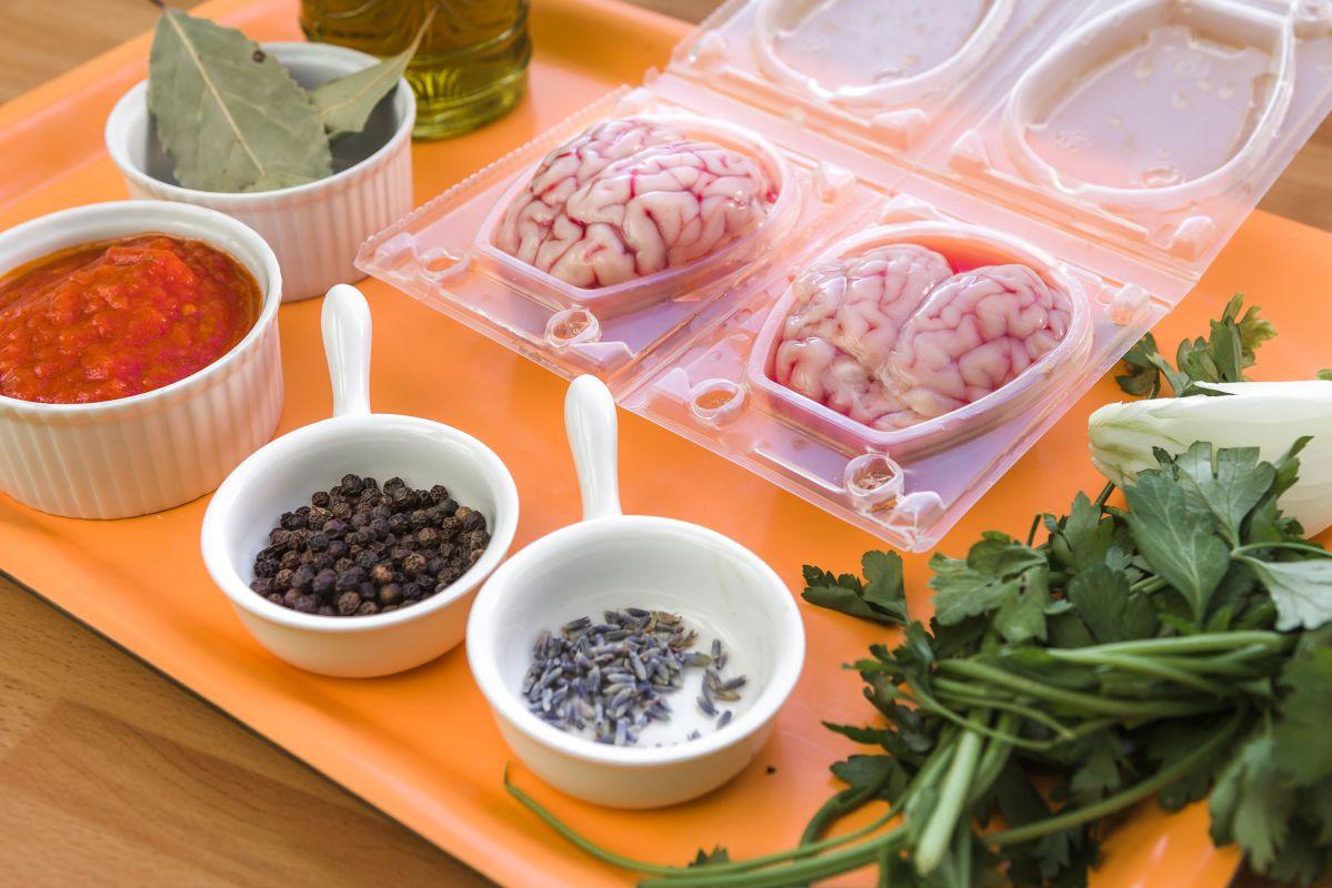 Ingredientes para la receta de sesos. Foto: David de Luis