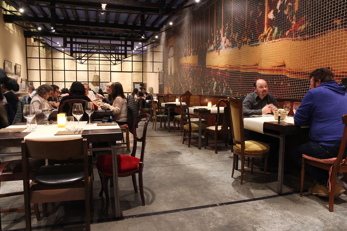 Restaurante Donosti - Trinkete (sala). Foto: Bixigarri