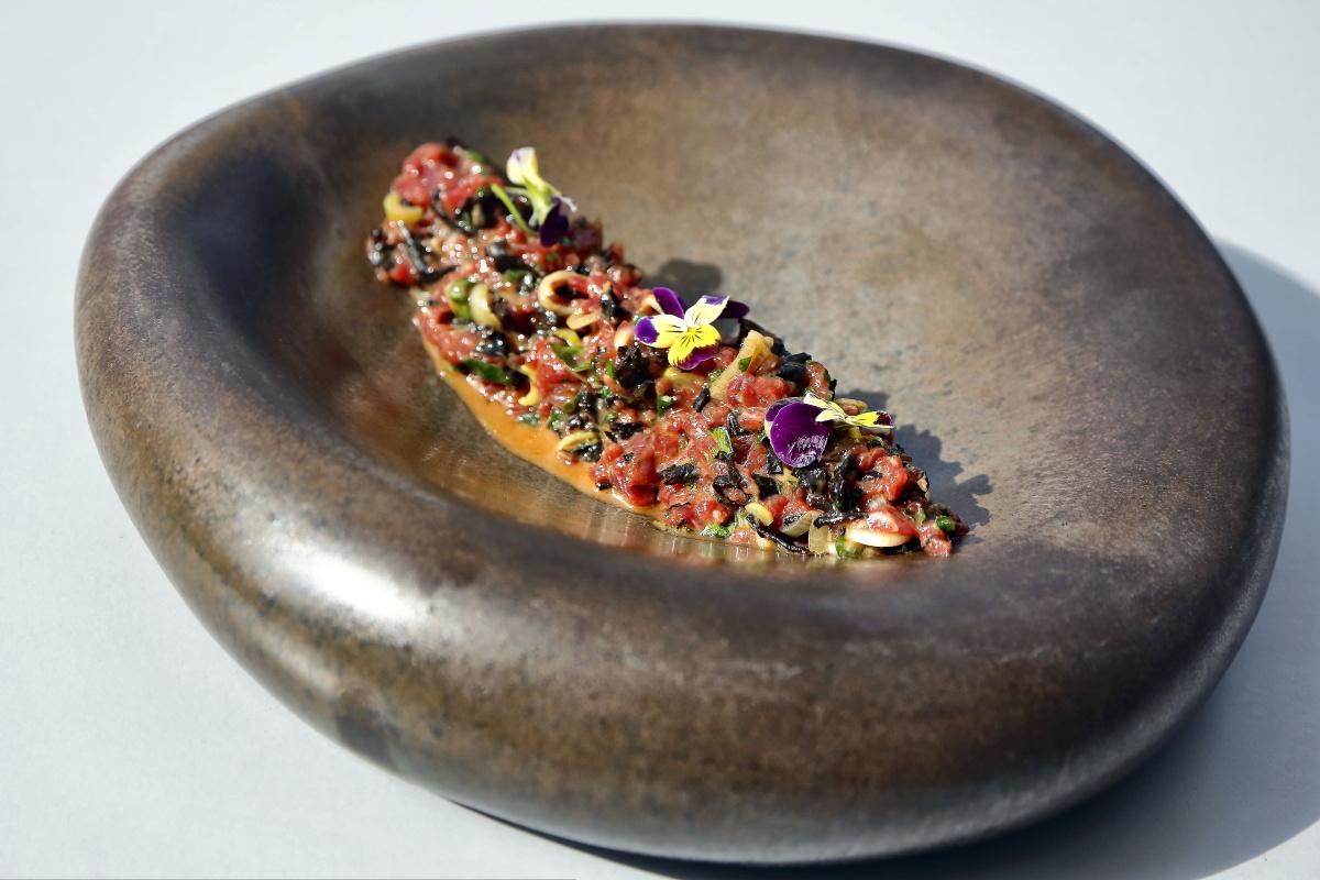 Restaurante AIE (El Sauzal). Tartar de solomillo. Foto: Roberto Ranero