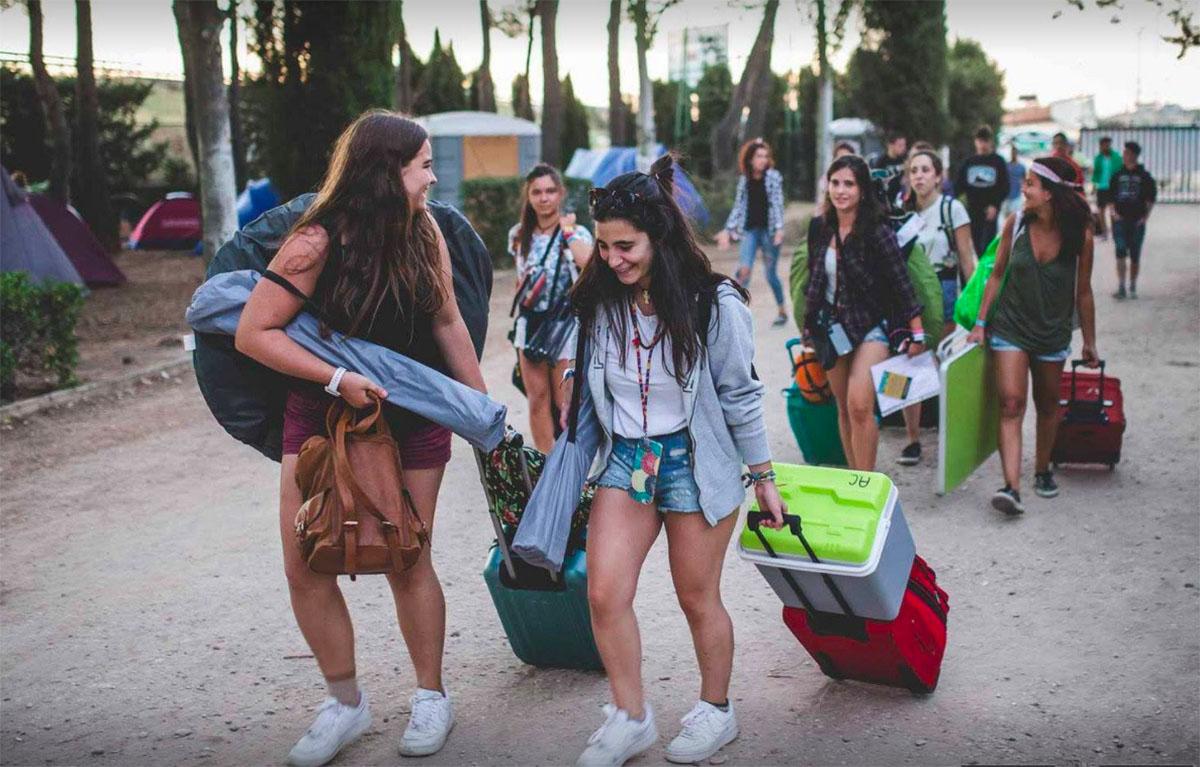 Festival Sonorama: asistentes llegando a la edición de 2016. Foto cedida: sonorama-aranda.com