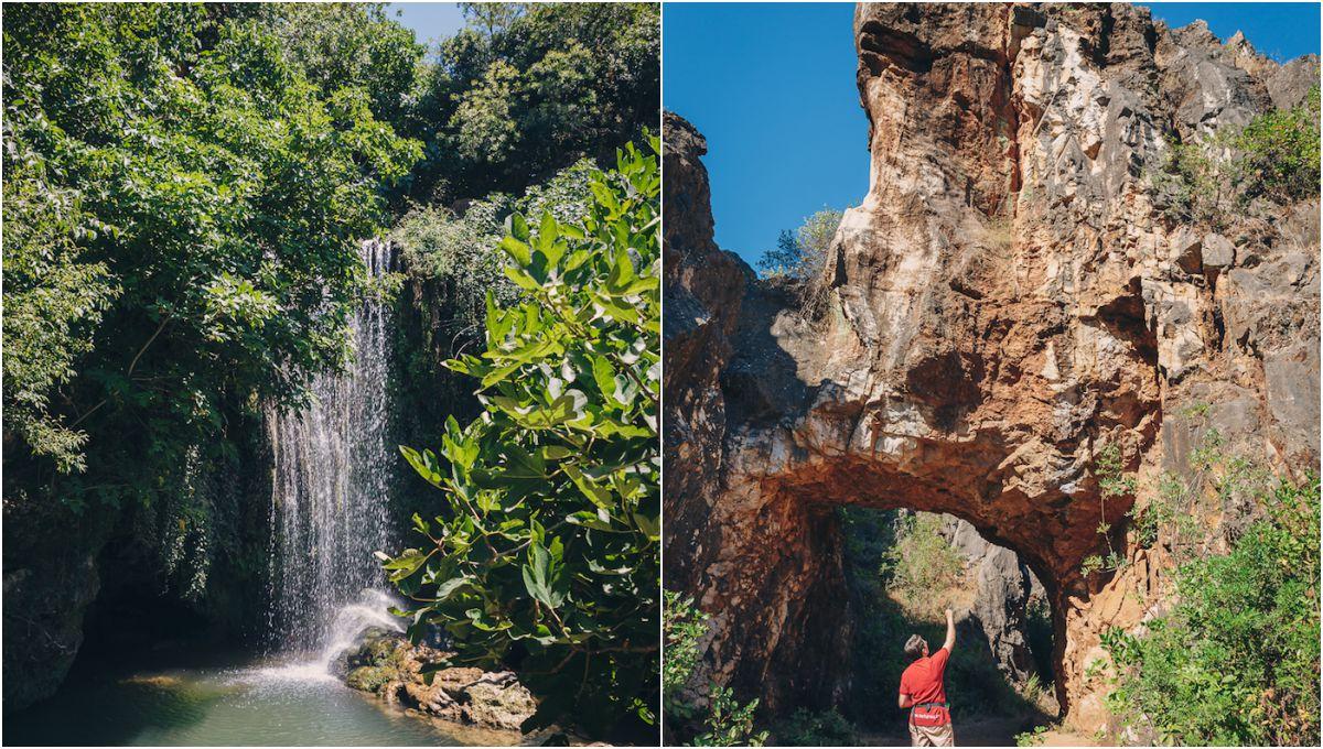 Paisajes variados: cascadas y rocas kársticas a través del parque. Foto: Javier Sierra