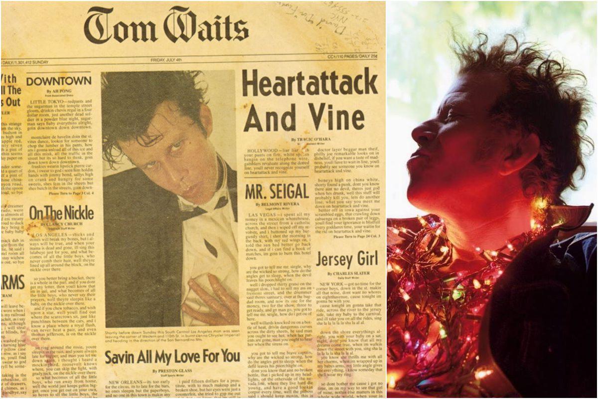 La portada del disco y un retrato de Tom Waits. Fotos: Faceboo y JB Mondino