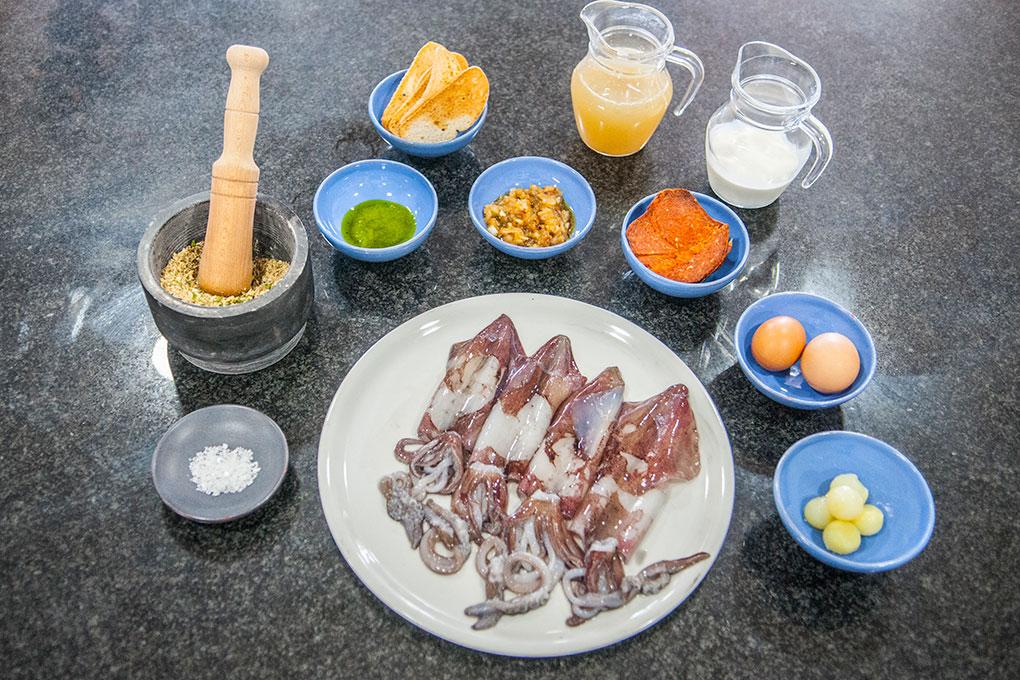 Calamares rellenos, Menorca.
