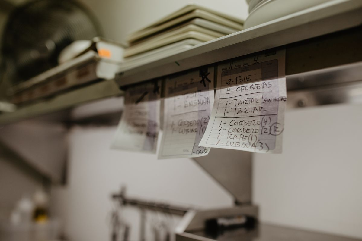 Comandas del restaurante Bido. Foto: Clara Vilar